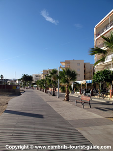 The Beach Front in Cambrils