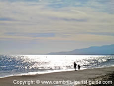 Early evening over Cambrils beaches