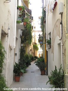 Carrer Major in Cambrils Old Town
