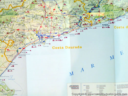 Map Of Spain Showing Salou.Maps Of Cambrils Free Tourist Maps Cambrils Toursit Information Maps