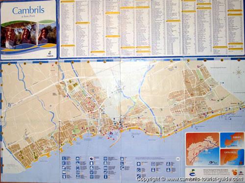 Maps of Cambrils: Free Tourist Maps: Cambrils Toursit Information Maps