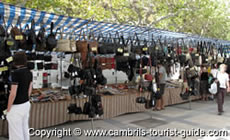 Bags & Leather Products Stall at Cambril's Market
