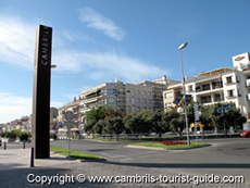 The main road entering Cambrils